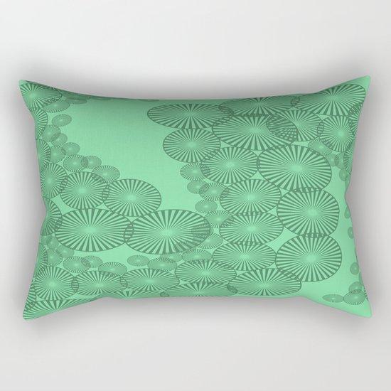 Green Circles Fractal Rectangular Pillow