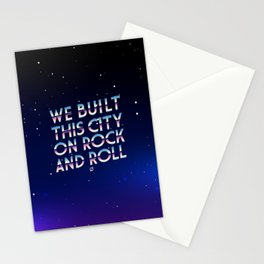WE BUILT THIS CITY Stationery Cards