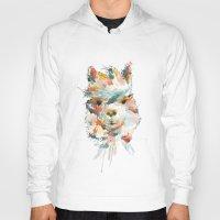 alpaca Hoodies featuring + Watercolor Alpaca + by BANBAN