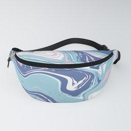 Blue abstract vivid marlbe Fanny Pack