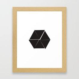 #310 Untidy hexagon – Geometry Daily Framed Art Print
