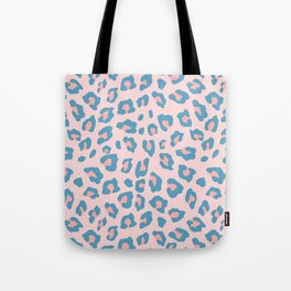 Leopard Print - Peachy Blue Tote Bag