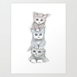 Cat Totem Art Print