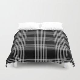 Black & Gray Plaid Print Duvet Cover
