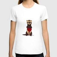 ferret T-shirts featuring Lovely Ferret by Olluga