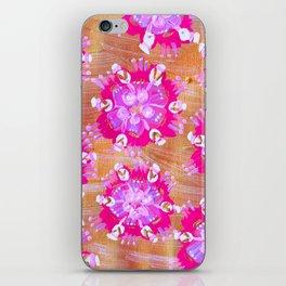 Pink Calliope Rose iPhone Skin