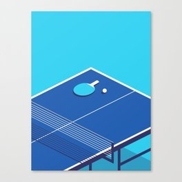 Table Tennis Isometric - Cyan Canvas Print