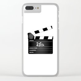 25th Year Clapperboard Clear iPhone Case