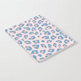 Leopard Print - Peachy Blue Notebook