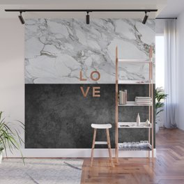 Love Quote, Copper Art Wall Mural