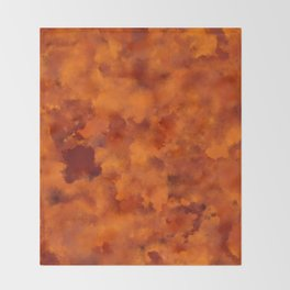 Orange red batic look Throw Blanket