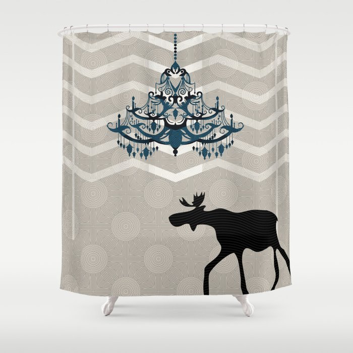 A Moose finds home Shower Curtain