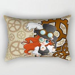 Steampunk Girl Rectangular Pillow