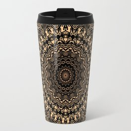 Brown mandala Travel Mug