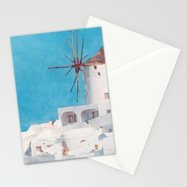 Mediterranean journey-Santorini Stationery Cards
