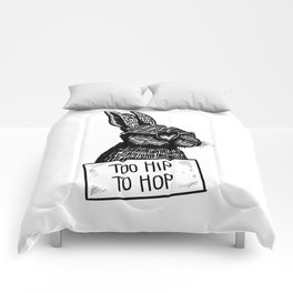 Too Hip To Hop Comforters
