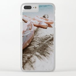 little boats / philippines Clear iPhone Case