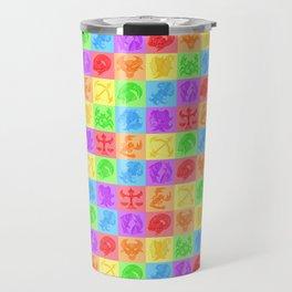 Zodiac Zentangle - All signs (Rainbow Ver.) Travel Mug