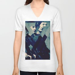 TheDecomposed Composer Clara Wieck Unisex V-Neck