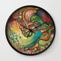 gumball Wall Clocks featuring Gumball by Dena Nord