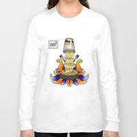 ramen Long Sleeve T-shirts featuring Ramen God by NoodleRooster