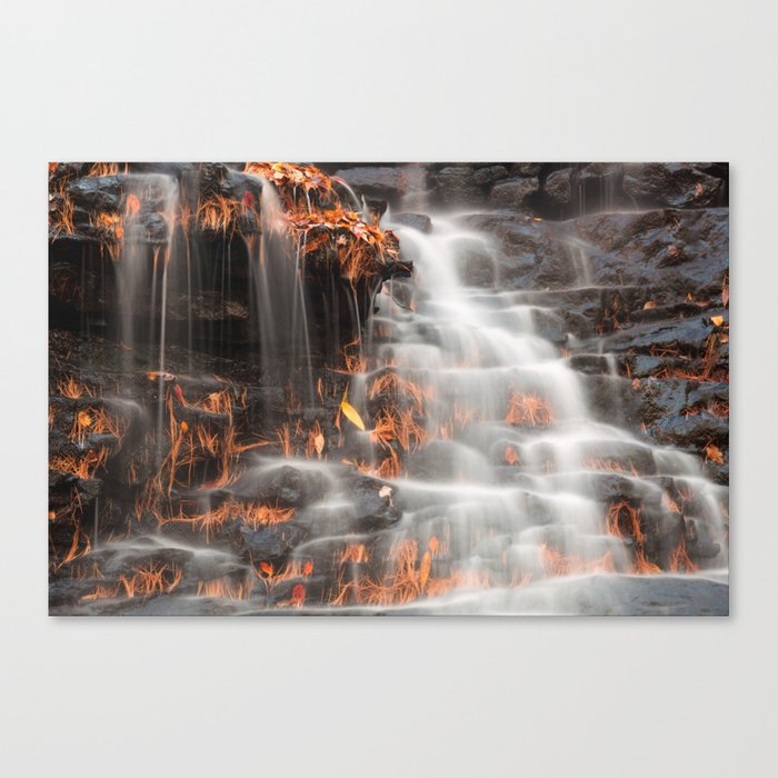 Shades of Death Waterfall Canvas Print