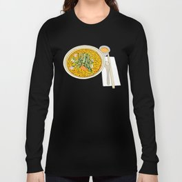 Singapore Laksa Noodle Long Sleeve T-shirt