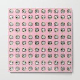 Palms and Pink Metal Print