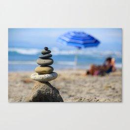 Beach Rock Balance Canvas Print