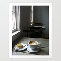 cafe Art Prints featuring CAFE by Rachel Craig