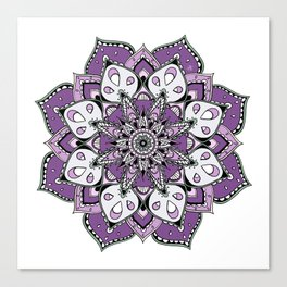 Mandala Purpel stars By Sonia H. Canvas Print