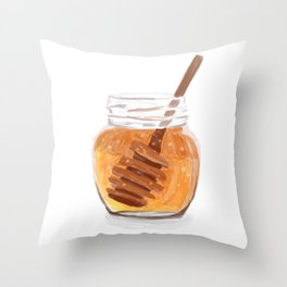 Honey Pot Painting Throw Pillow