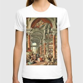 Giovanni Paolo Pannini 19th Century Masterpiece: Picture Gallery with Views of Modern Rome T-shirt