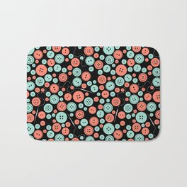 Sew Many Buttons Bath Mat