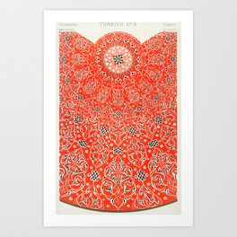 Vintage Red Turkish Pattern Art Print
