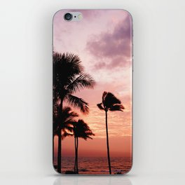 Palm Tree Sunset iPhone Skin
