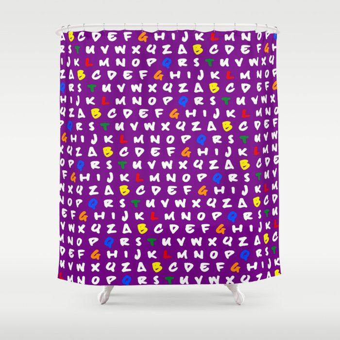 Abc's purple! Shower Curtain