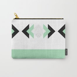 Contrast Marble Mint Arrows Collage Carry-All Pouch