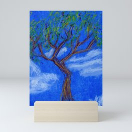REALLY Blue Bonsai Mini Art Print