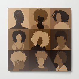 FOR BROWN GIRLS COLLECTION COLLAGE Metal Print