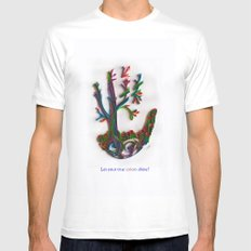 tree of life MEDIUM Mens Fitted Tee White
