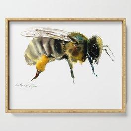 Bee, bee design honey bee, honey making Serving Tray