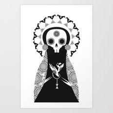 Santa Muerte Art Print