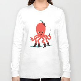 Octopus in Boots Long Sleeve T-shirt