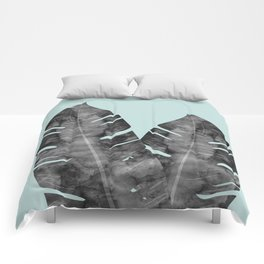 Two tropical leaves Comforters