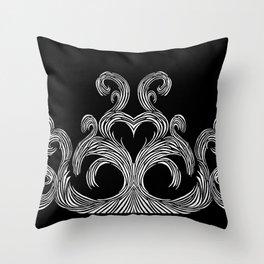 Swirls & Heart Throw Pillow