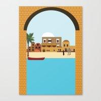 arab Canvas Prints featuring Arab city by Design4u Studio