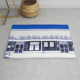 F.W. Woolworth All White Rug