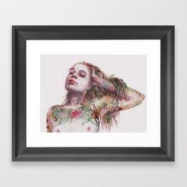 Leaves on Skin Framed Art Print