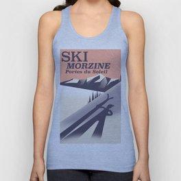 Morzine Portes du Soleil ski Unisex Tank Top
